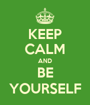 KEEP CALM AND BE YOURSELF - Personalised Large Wall Decal