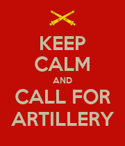KEEP CALM AND CALL FOR ARTILLERY - Personalised Large Wall Decal