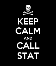 KEEP CALM AND CALL STAT - Personalised Large Wall Decal