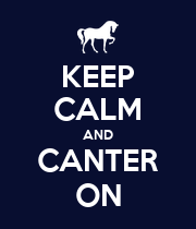 KEEP CALM AND CANTER ON - Personalised Large Wall Decal