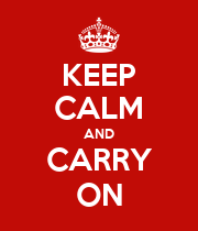 KEEP CALM AND CARRY ON - Personalised Large Wall Decal