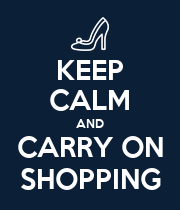 KEEP CALM AND CARRY ON SHOPPING - Personalised Poster large