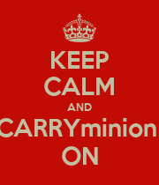 KEEP CALM AND CARRYminion  ON - Personalised Poster large