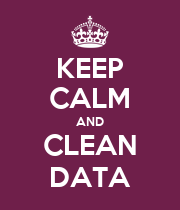 KEEP CALM AND CLEAN DATA - Personalised Poster large