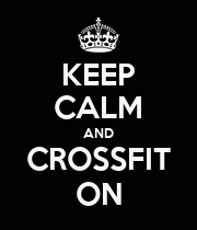 KEEP CALM AND CROSSFIT ON - Personalised Large Wall Decal