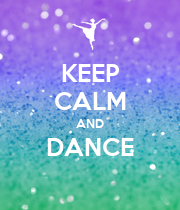 KEEP CALM AND DANCE  - Personalised Poster large