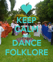 KEEP CALM AND DANCE FOLKLORE - Personalised Poster large