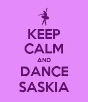KEEP CALM AND DANCE SASKIA - Personalised Large Wall Decal