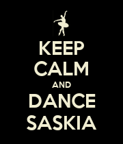 KEEP CALM AND DANCE SASKIA - Personalised Poster large