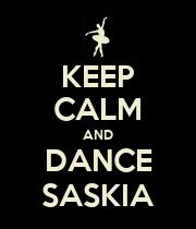 KEEP CALM AND DANCE SASKIA - Personalised Poster large