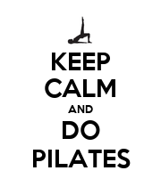 KEEP CALM AND DO PILATES - Personalised Large Wall Decal