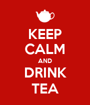 KEEP CALM AND DRINK TEA - Personalised Poster large