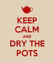 KEEP CALM AND DRY THE POTS - Personalised Poster large