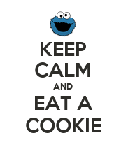 KEEP CALM AND EAT A COOKIE - Personalised Poster large