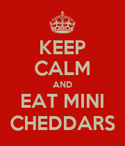 KEEP CALM AND EAT MINI CHEDDARS - Personalised Large Wall Decal