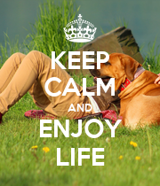 KEEP CALM AND ENJOY LIFE - Personalised Poster large