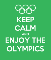 KEEP CALM AND ENJOY THE OLYMPICS - Personalised Large Wall Decal