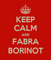KEEP CALM AND FABRA BORINOT - Personalised Large Wall Decal
