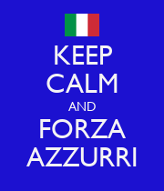 KEEP CALM AND FORZA AZZURRI - Personalised Large Wall Decal