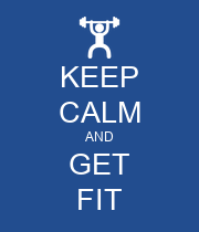 KEEP CALM AND GET FIT - Personalised Large Wall Decal