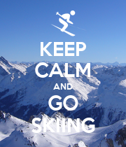 KEEP CALM AND GO SKIING - Personalised Poster large