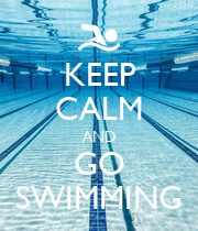 KEEP CALM AND GO SWIMMING - Personalised Poster large