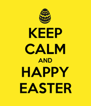 KEEP CALM AND HAPPY EASTER - Personalised Large Wall Decal