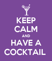 KEEP CALM AND HAVE A COCKTAIL  - Personalised Poster large