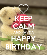 KEEP CALM AND HAVE A HAPPY BIRTHDAY - Personalised Poster large