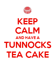 KEEP CALM AND HAVE A TUNNOCKS TEA CAKE - Personalised Large Wall Decal