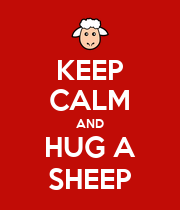 KEEP CALM AND HUG A SHEEP - Personalised Poster large