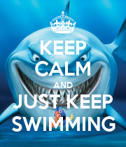 KEEP CALM AND JUST KEEP SWIMMING - Personalised Large Wall Decal