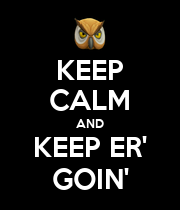 KEEP CALM AND KEEP ER' GOIN' - Personalised Large Wall Decal