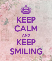 KEEP CALM AND KEEP SMILING - Personalised Large Wall Decal