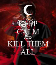 KEEP CALM AND KILL THEM ALL - Personalised Poster large