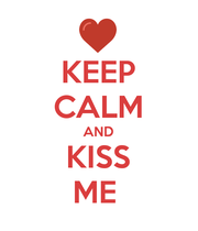 KEEP CALM AND KISS ME  - Personalised Large Wall Decal