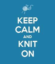 KEEP CALM AND KNIT ON - Personalised Large Wall Decal