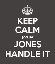 KEEP CALM and let JONES HANDLE IT - Personalised Large Wall Decal
