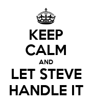 KEEP CALM AND LET STEVE HANDLE IT - Personalised Large Wall Decal