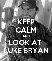 KEEP CALM AND LOOK AT  LUKE BRYAN - Personalised Large Wall Decal