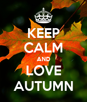 KEEP CALM AND LOVE AUTUMN - Personalised Large Wall Decal