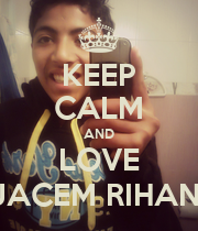 KEEP CALM AND LOVE JACEM RIHANI - Personalised Poster large