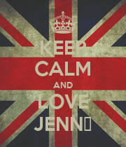 KEEP CALM AND LOVE JENN▼ - Personalised Poster large