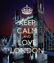 KEEP CALM AND LOVE LONDON - Personalised Large Wall Decal