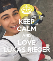 KEEP CALM AND LOVE LUKAS RIEGER - Personalised Poster large
