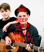 KEEP CALM AND LOVE MAX & HARVEY!! - Personalised Large Wall Decal
