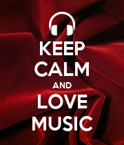 KEEP CALM AND LOVE MUSIC - Personalised Poster large