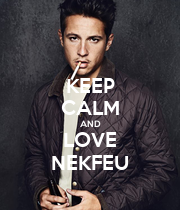 KEEP CALM AND LOVE NEKFEU - Personalised Poster large