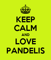 KEEP CALM AND LOVE PANDELIS - Personalised Poster large