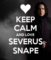 KEEP CALM AND LOVE  SEVERUS SNAPE - Personalised Large Wall Decal